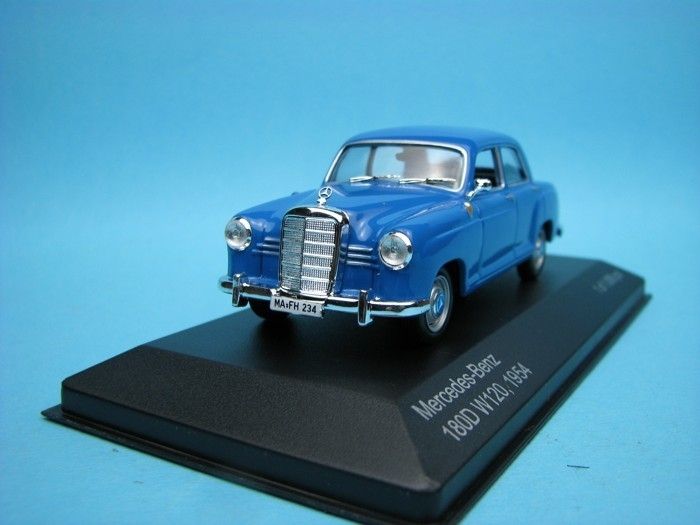 Mercedes-Benz 180D W120 1954 blue 1:43 White Box